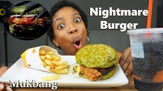 MUKBANG| Burger King NIGHTMARE BURGER Taste Test (Eating Show)