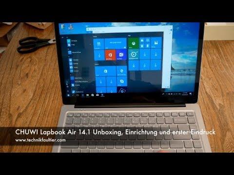 CHUWI Lapbook Air 14 1 Unboxing, Einrichtung und erster Eindruck