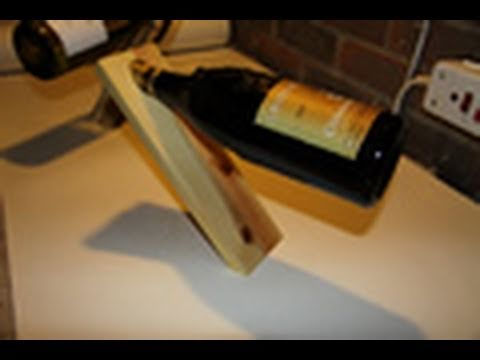Woodworking Projects  Magic Wine Bottle Holder