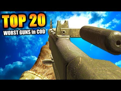 """Top 20 """"WORST GUNS"""" in COD HISTORY (Call of Duty)"""