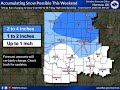 Severe storm and winter weather update - Thursday morning, January 9th 2020