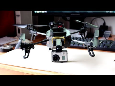 Attach GoPro to AR.Drone 2.0 - Tutorial