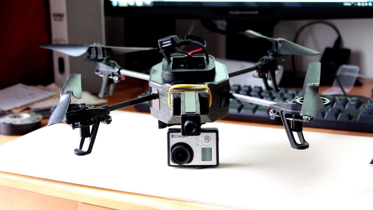 parrot ar drone gopro with Watch on Watch additionally Pgy Tech Hand Grip Tripod Actioncams in addition Dji Phantom 2 Vision Drone With Hd Video Camera likewise Plans De Monocoque Rc also How Long Can A Drone Fly.