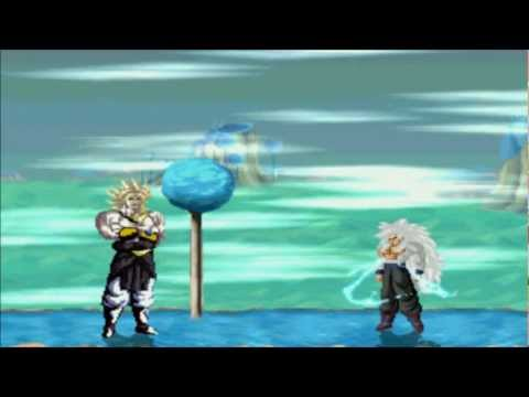 Mugen Battles-nightmare Broly Ssj4 Vs Goku Ssj5-360gamer419 video
