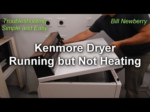 Kenmore Dryer Not Heating but still Runs - How to Fix