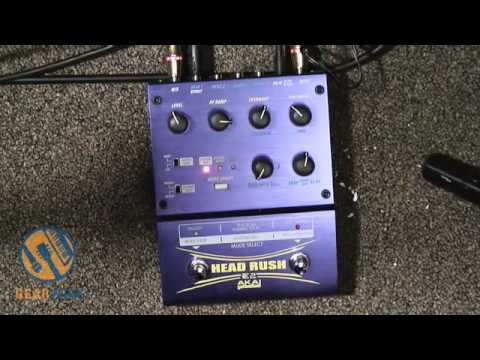 Akai E2 Head Rush Delay / Looper Pedal Demonstration, Part One