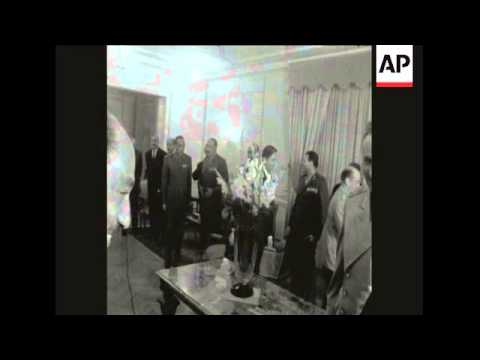 SYND 2 4 68 UNITED ARAB REPUBLIC LEADER NASSER AND SOVIET DEFENCE MINISTER GRECHKO MEET