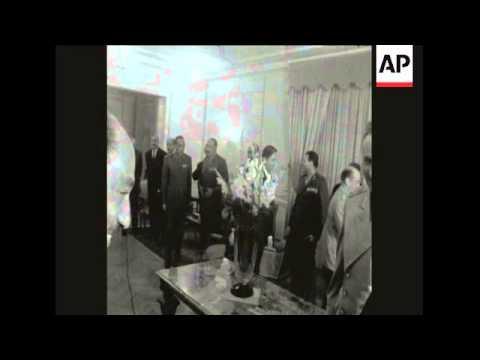 SYND 2 4 68 UNITED ARAB REPUBLIC LEADER NASSER AND SOVIET DEFENCE MINISTER GRECHKO MEET