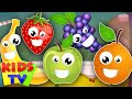 five little fruits | learn fruits | fruits song | nursery rhy...