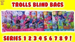Trolls Series 1 2 3 4 5 6 7 8 9 Blind Bags Opening Dreamworks TOYS Surprise Characters