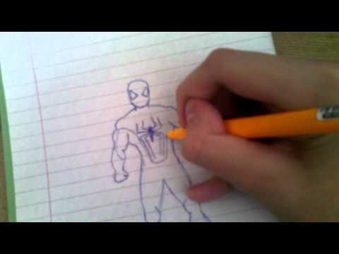 Видео как нарисовать нового Человека Паука