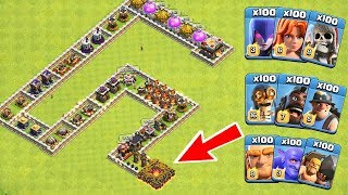 Who Can Survive This Difficult Trap on COC? Trap VS Troops #16