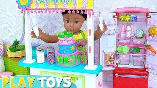 AG Baby Doll House Cooking Cake Kitchen Toys Play!