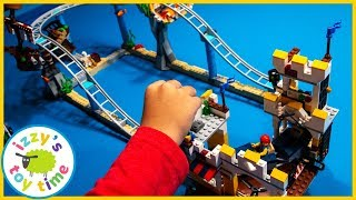 LEGO PIRATE ROLLER COASTER! Fun Toy Trains and Toy Cars for Kids