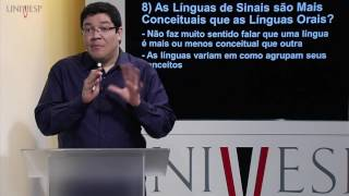 LIBRAS - Aula 08 - Mitos sobre as línguas de sinais: Parte 2