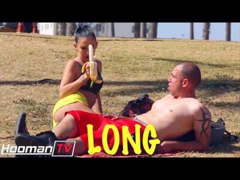 HOT GIRL SUCKING A BANANA PRANK!   HoomanTV thumbnail
