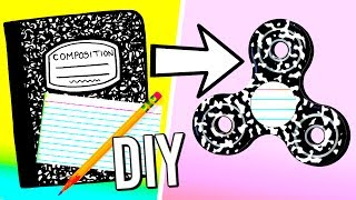 How to make a fidget spinner from school supplies! DIY fidget spinner without bearings!