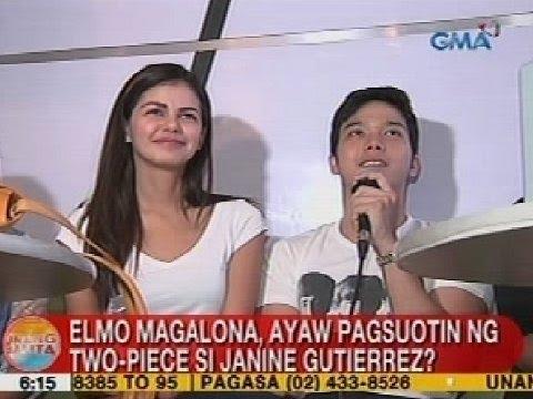 UB: Elmo Magalona, ayaw pagsuotin ng two-piece si Janine Gutierrez?