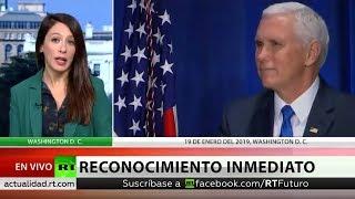 EE.UU. reconoce a Guaidó tras su autoproclamación como presidente de Venezuela