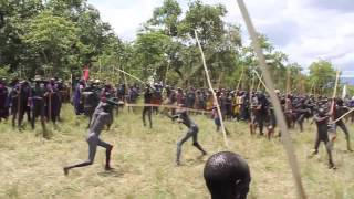 Donga Fight: Authentic Donga stick fight in the Omo, Ethiopia