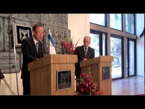 TodaysNetworkNews: UN S-G BAN KI-MOON in ISRAEL: MET with PRES. SHIMON PERES & TZIPI LIVNI