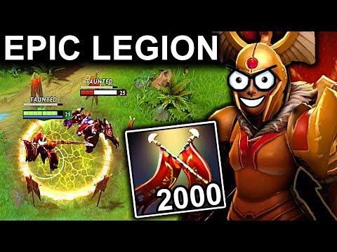 EPIC 2000+ DAMAGE LEGION COMMANDER PATCH 7.10 DOTA 2 NEW META GAMEPLAY #48 (DOTA PLUS NEW STATS LC)