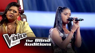 Kavindya Lakmuthu | Ahan Inna Blind Auditions | The Voice Teens Sri Lanka