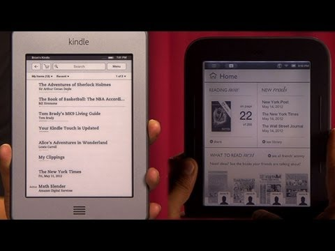 Prizefight - Kindle Touch vs. Nook Simple Touch with Glowlight