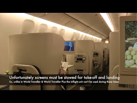 777-300ER Business Class British Airways BA015: Singapore to Sydney, Australia (Club World)