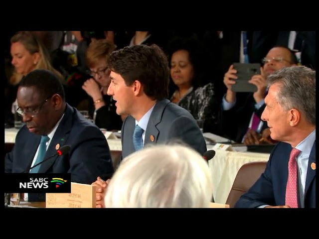 Canada's Prime Minister Trudeau welcomes G7 Summit delegates
