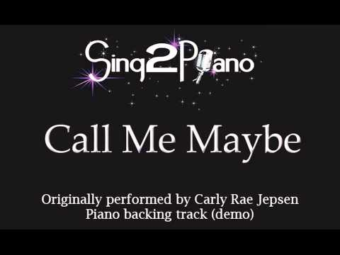 Call Me Maybe - Carly Rae Jepsen (piano Backing) Karaoke Cover video