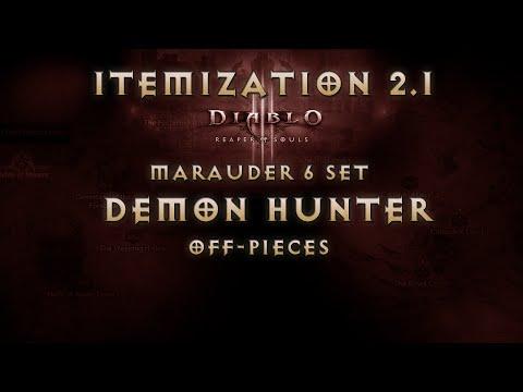 [Guide] Diablo 3 Reaper of Souls Demon Hunter Marauder 6 set Itemization Off-pieces (2.1 Patch)