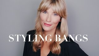 10 Ways to Style Bangs | Easy Hairstyles Summer 2019