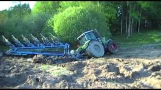 CLAAS tractor in mud