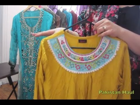 Pakistan Trip Haul (mostly clothes) and GIVEAWAY WINNER ANNOUNCED...