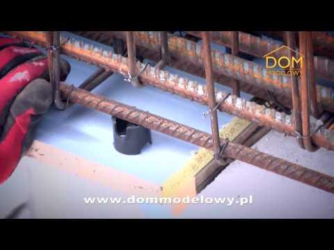 Podciągi i słupy żelbetonowe w Domu Modelowym