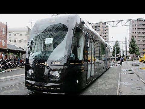 市電の新型車両搬入 熊本