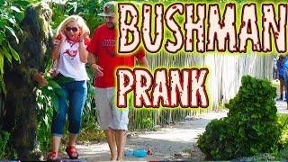 NEW!! 3 Bushman Gauntlet - FUNNY VIDEO! Bushman Scare Prank at Tampa Bay Buccaneers