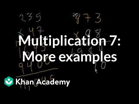 Multiplication 7: Old video giving more examples
