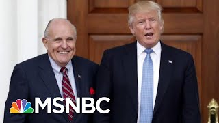 """New Dance Craze: """"The Giuliani"""" Walk Back After Collusion Fumble   The Beat With Ari Melber   MSNBC"""