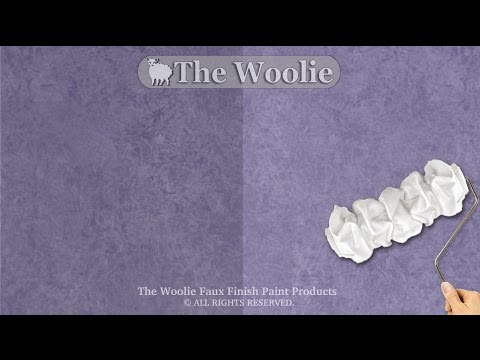 Rag roller faux finish painting by the woolie how to for Rag rolling painting ideas