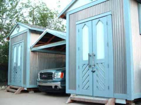 Build INSANE Custom Storage/STUDIO Twin Shed (start to finish) Includes *Retractable Roof Carport