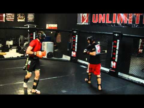 Pro MMA Fighter Johnny Case sparring at Striking Unlimited MMA Gym Las Vegas Image 1