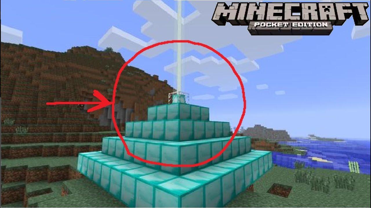 Как сделать маяк в Minecraft Pe 0.14.0? - YouTube