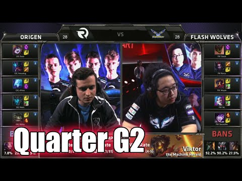 Origen vs Flash Wolves Game 2 | Quarter Finals LoL S5 World Championship 2015 | FW vs OG G2 Worlds