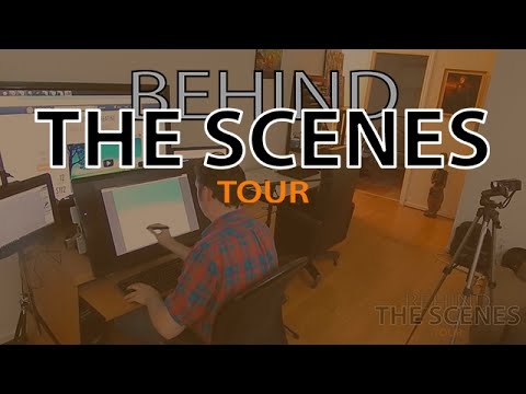 Behind The Scenes: Aaron's Digital Art Workspace & Studio