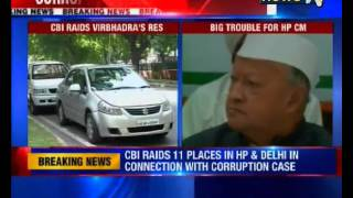 CBI officials raid Himachal CM Virbhadra Singh's residence; BJP demands his resignation