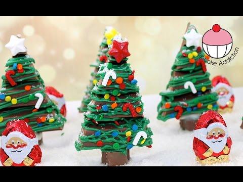Chocolate Christmas KitKat Forest -  KitKat karácsonyfa recept