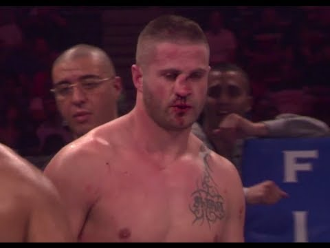 Image video Choc : Grave fracture du nez de kick-boxeur Rustemi Kreshnik
