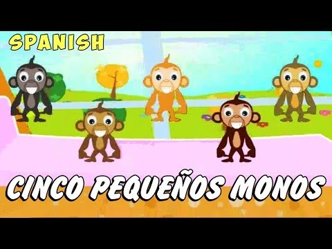 Cinco pequeños monos- Canciones Infantiles (Five Little Monkeys)